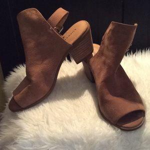 Lucky Brand Bray Peep-toe booties-Size 6.5
